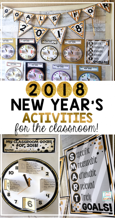 New Year's Resolutions 2018 for the Classroom!