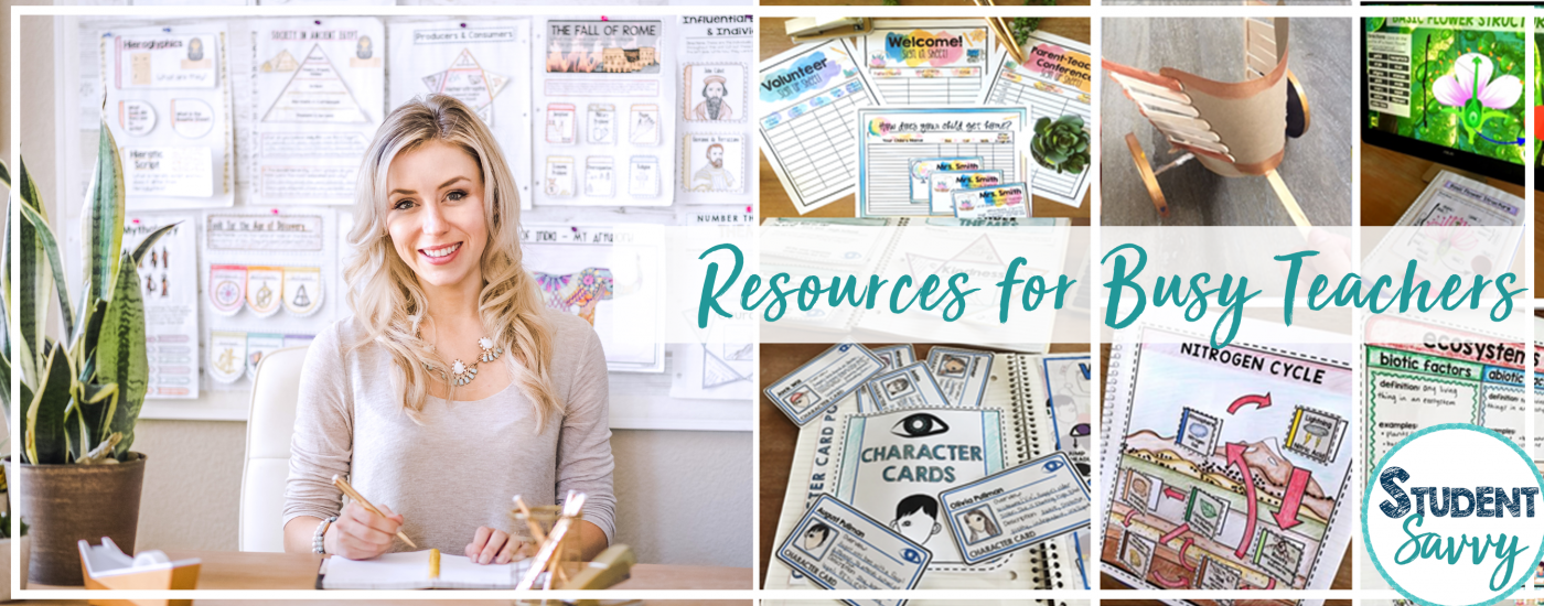 Teaching Resources for Busy Teachers