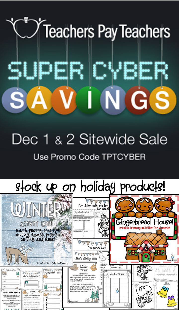 Teachers Pay Teachers Super Cyber Sale!
