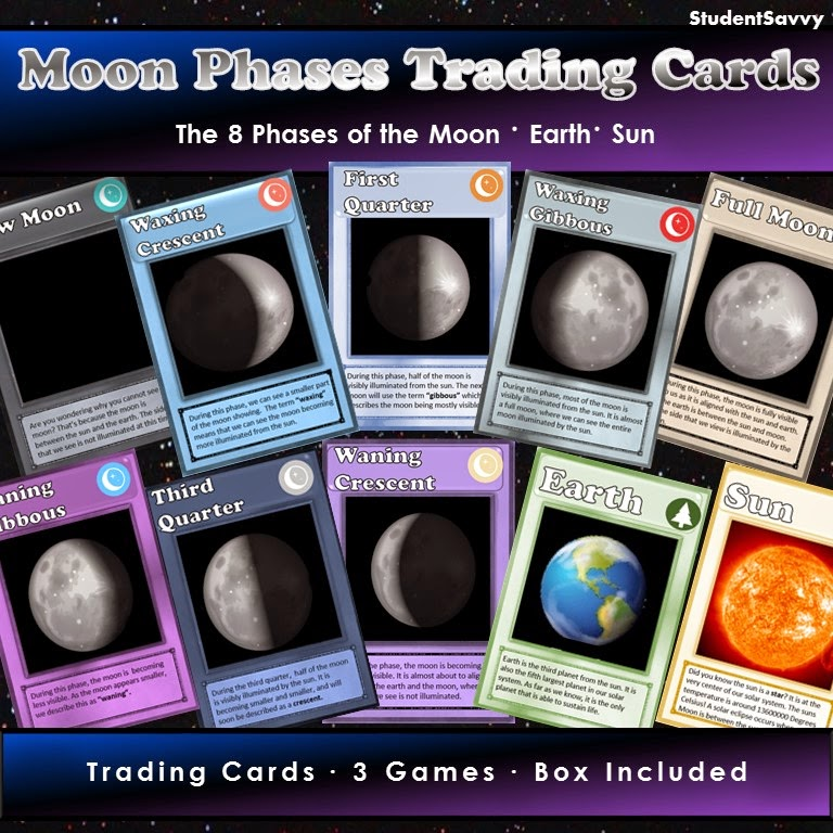 http://www.teacherspayteachers.com/Product/Moon-Phases-Trading-Cards-1623637