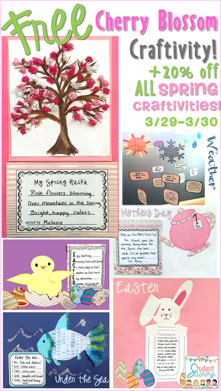 Easter / Spring FREE Craftivity & Sale!