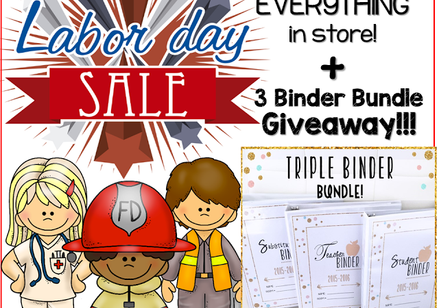 BIG LABOR DAY SALE & BINDER BUNDLE GIVEAWAY!