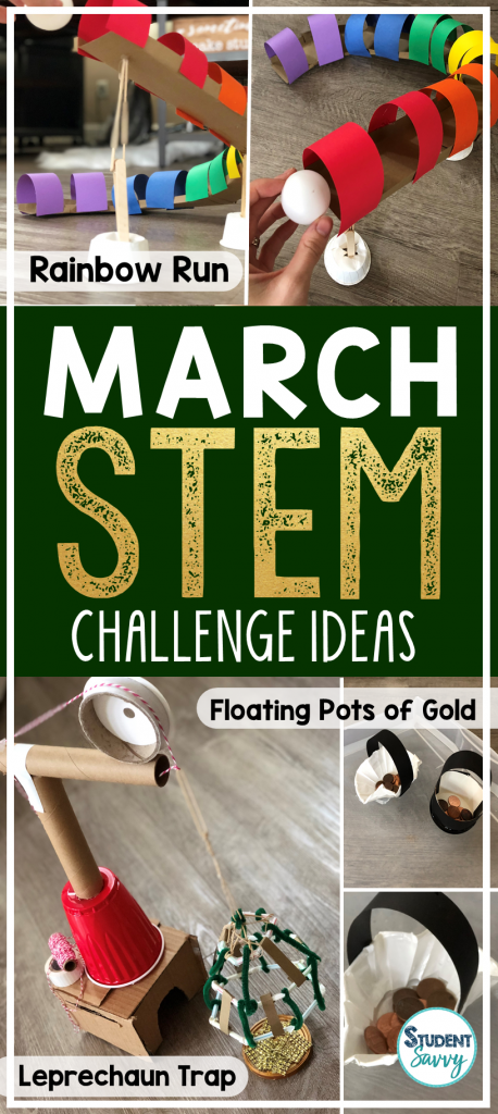 Saint Patrick's Day STEM Challenges for Students