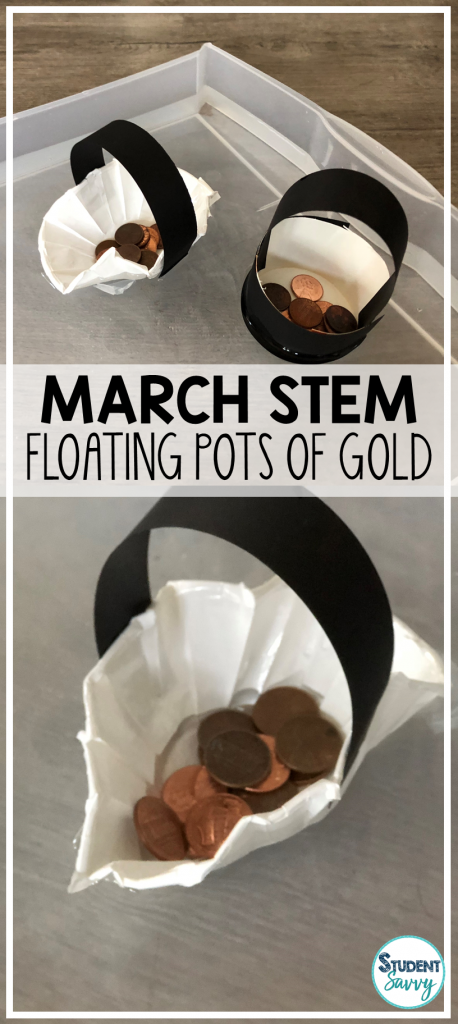 March STEM floating pots of gold
