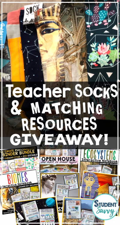 It's Back… Teacher Sock Sundays and a BIG GIVEAWAY!