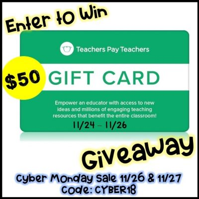 Win $50 in TpT Cash during the Cyber Sale!
