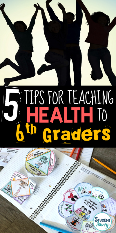 5 Tips for Teaching Health to 6th Graders!