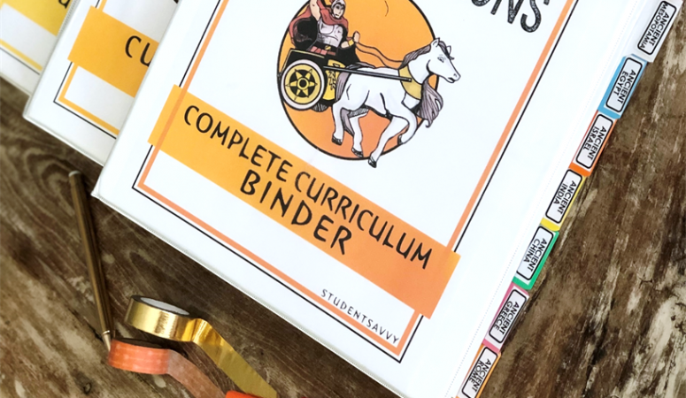 Organize Your Ancient Civilizations Curriculum with Teacher Binder Freebies!