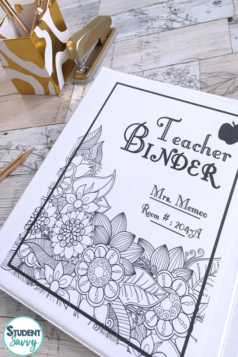 zen doodle teacher binder