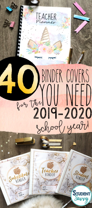 40 Teacher Binder Covers You NEED For 2019-2020