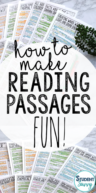 How to Make Reading Passages FUN for Students!