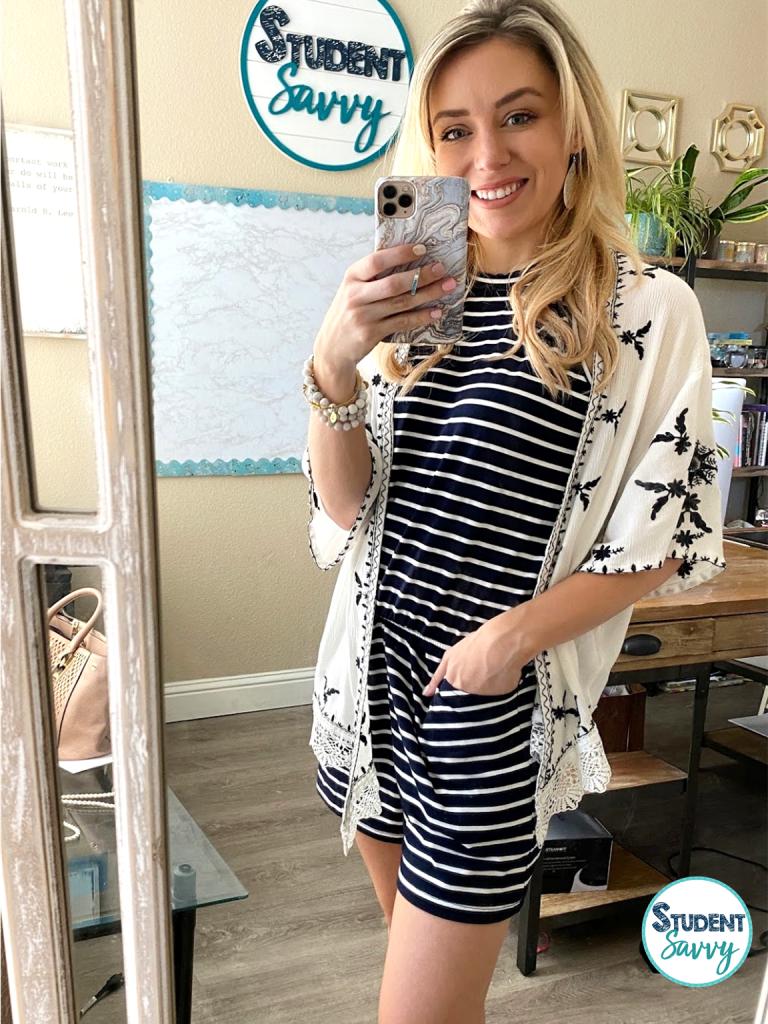 Summer Teacher Outfit Romper