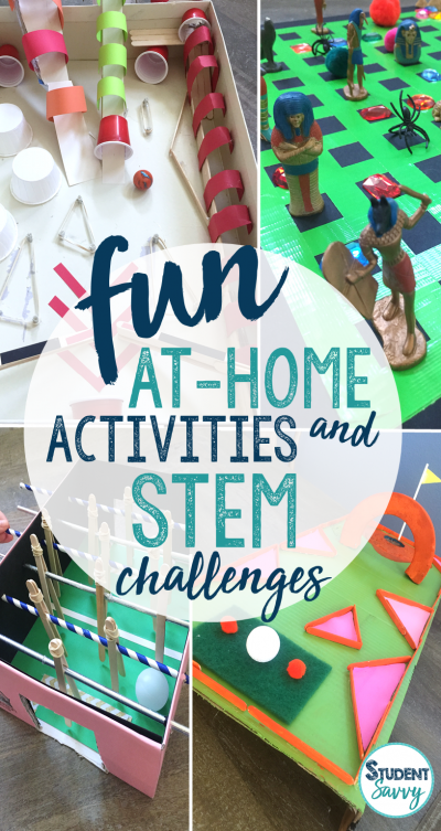 At Home Activities and STEM Challenges!