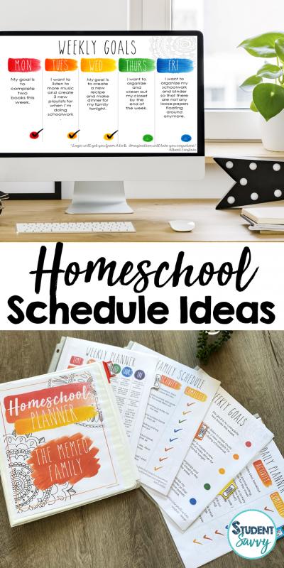 Homeschool Schedule Ideas & Distance Learning Help