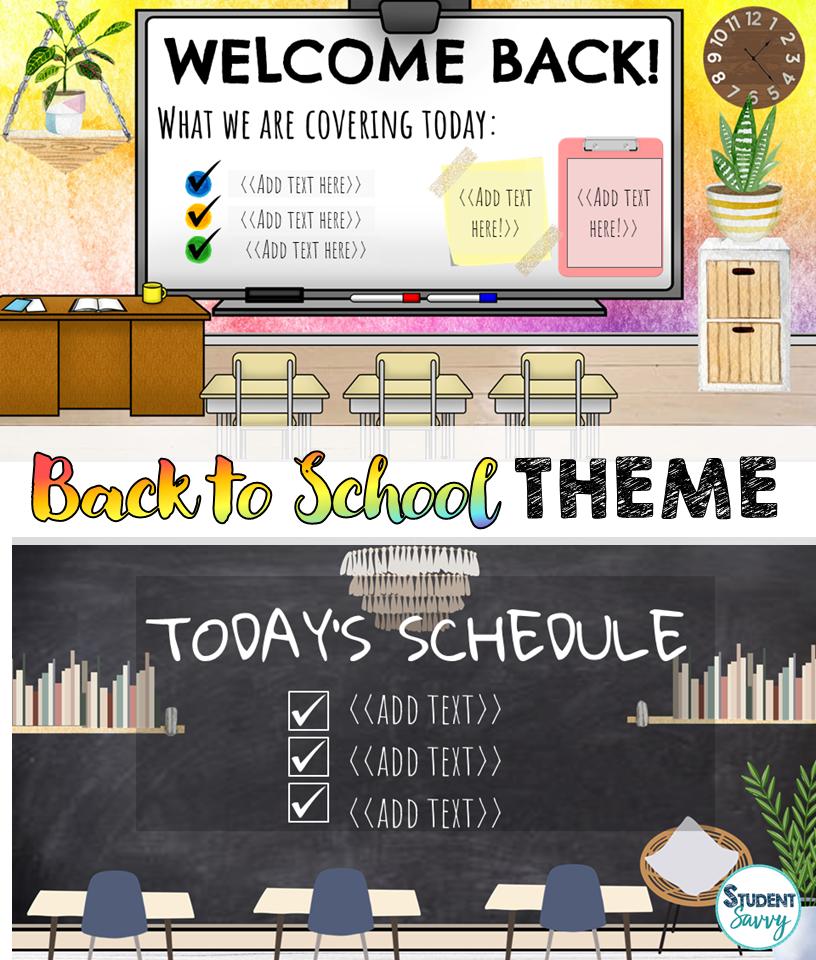 Back to School Bitmoji Virtual Classroom