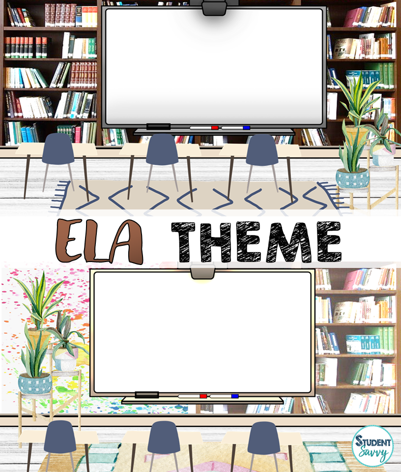 Bitmoji Virtual Classroom Template Language Arts