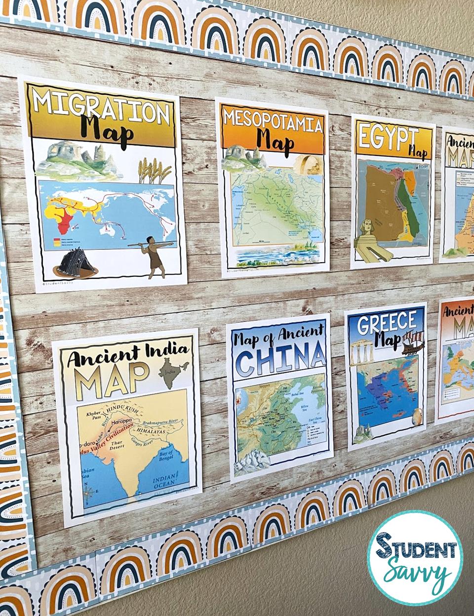 Ancient Civilization Maps Posters