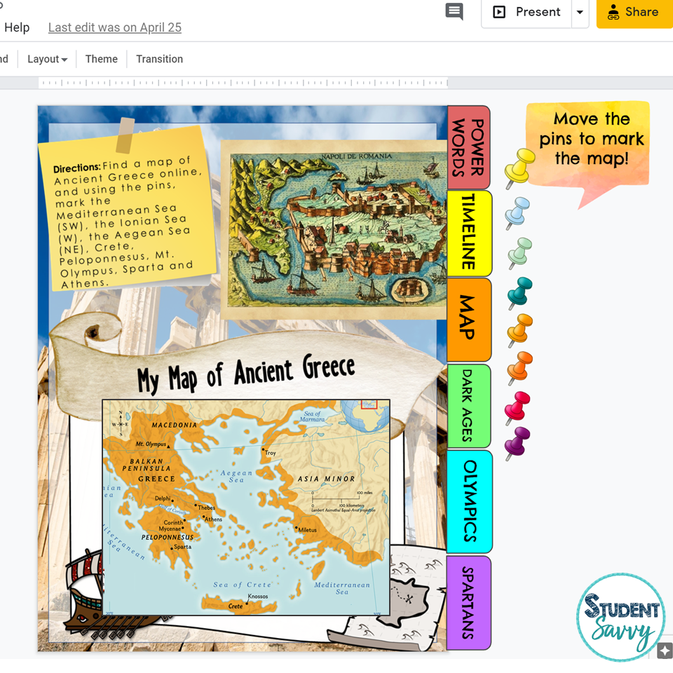 Ancient Civilization Map Activity