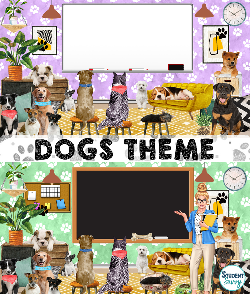 bitmoji virtual classroom dog template