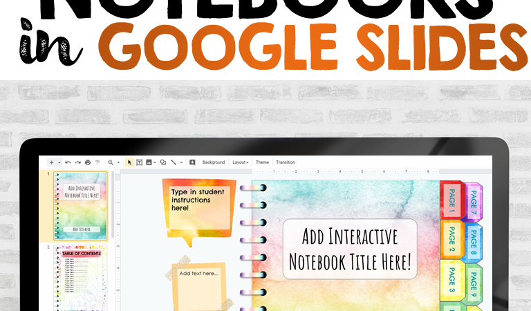 How to use Digital Interactive Notebooks in Google Slides