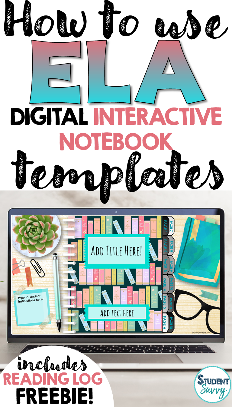 How to Use ELA Digital Interactive Notebook Templates for Google Classroom with Freebie