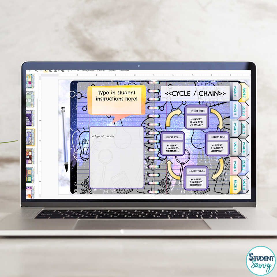Earth Science Digital Interactive Notebook Template