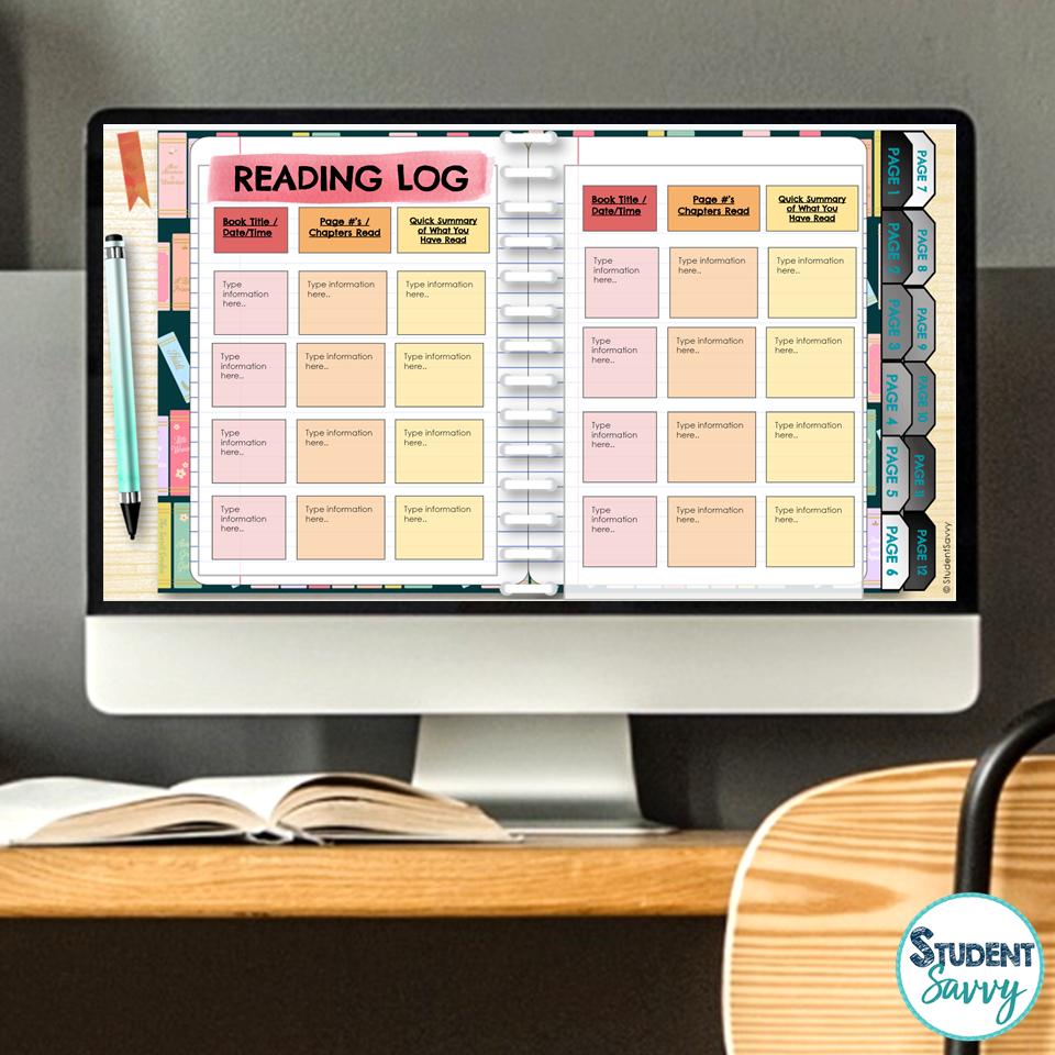 Digital Reading Log Free Teaching Resource