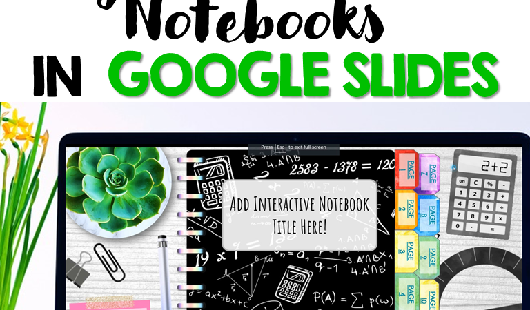 Teaching Ideas for Math Digital Interactive Notebook Templates in Google Slides