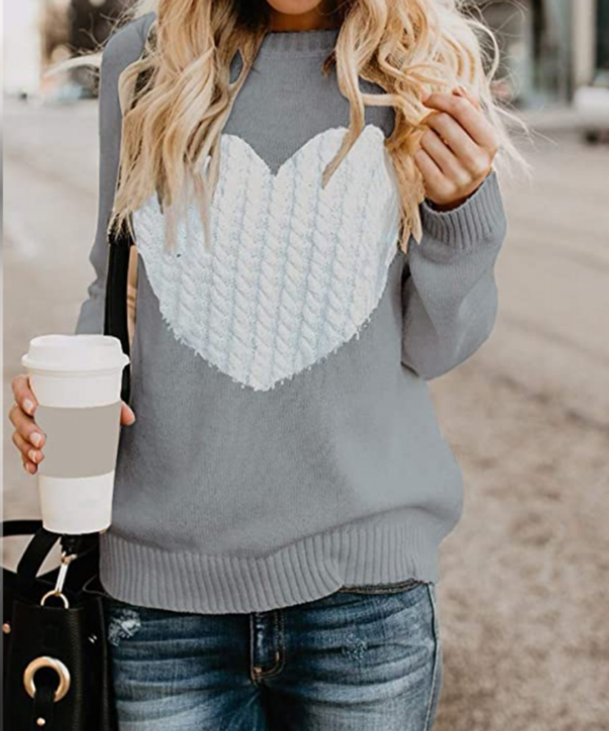 heart sweater for teachers