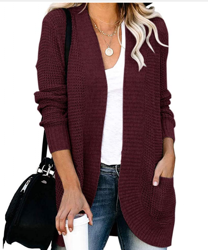 Wine Red Fall Sweater for Teachers