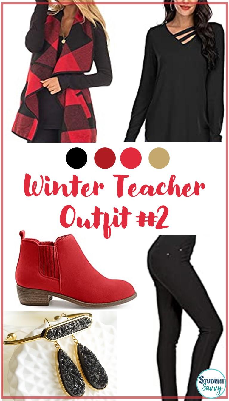 Winter Teacher Outfit #2
