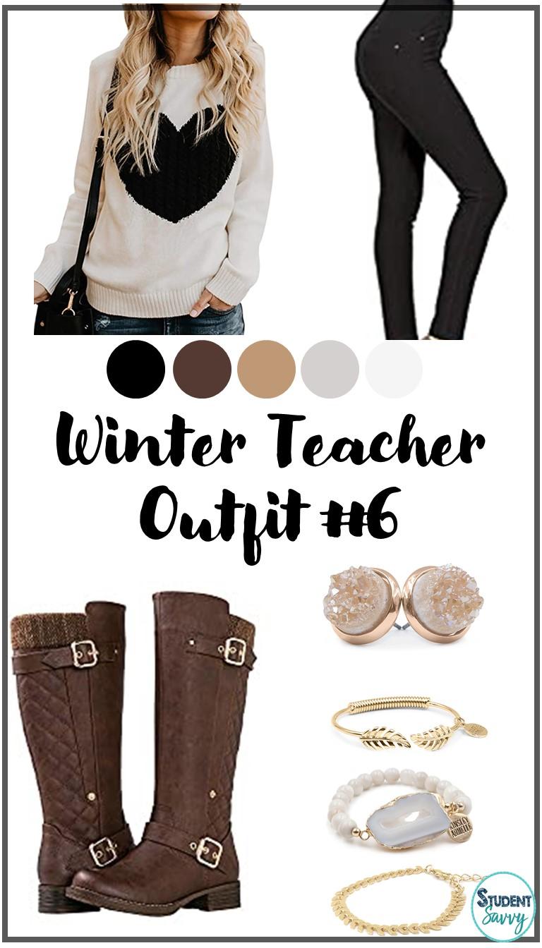 Winter Teacher Outfit 6