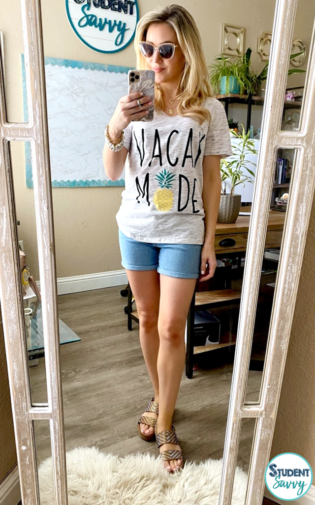Vacay Mode Tshirt from Amazon