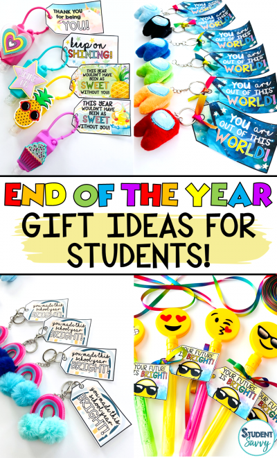 End of the Year Gifts for Students Ideas