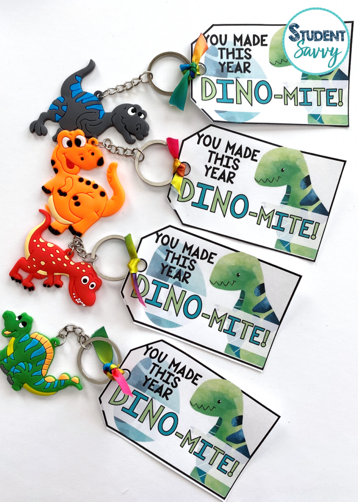 dinosaur end of the year tags