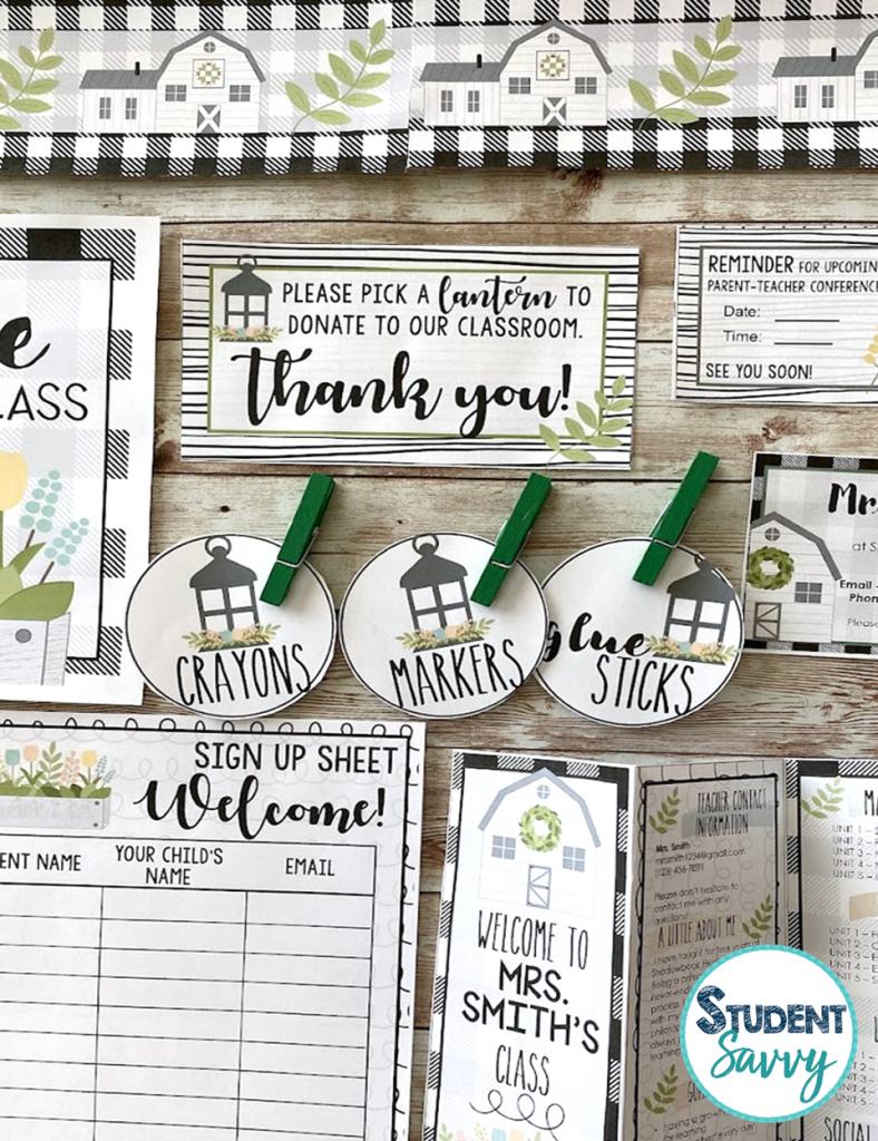 Meet the Teacher Farmhouse