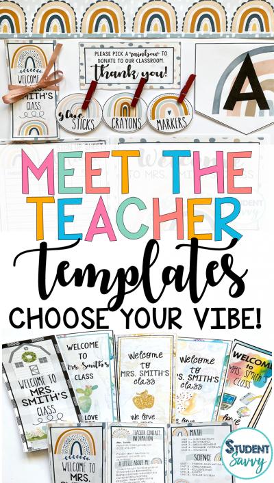 Meet the Teacher Templates