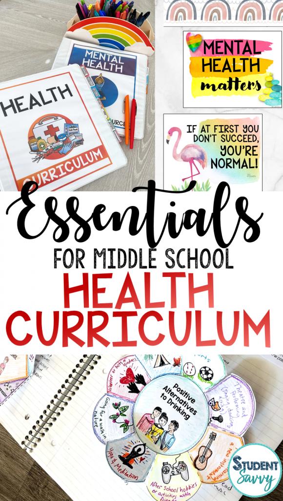 Middle School Health Curriculum 6th Grade