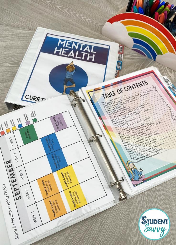 Health Curriculum Freebie Middle School