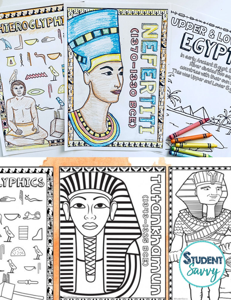 Ancient Civilizations Coloring Pages Free Teaching Resource