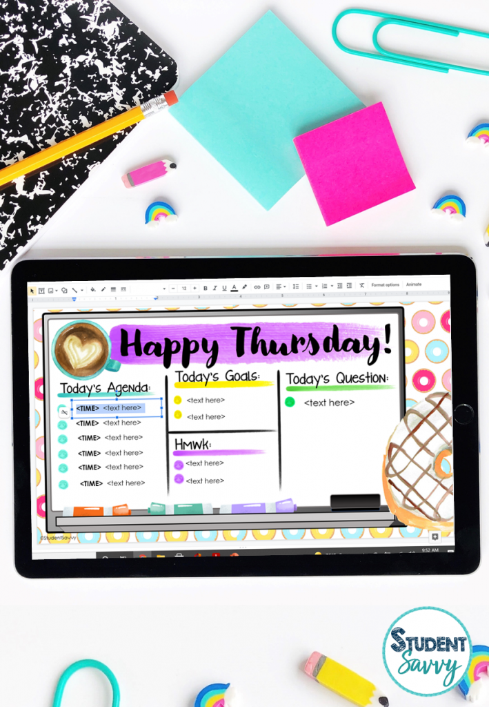 Classroom Routines Digital Google Slides